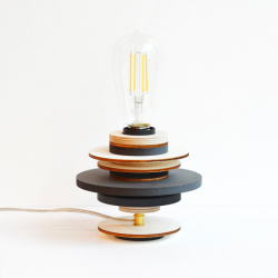 LAMPE A POSER BOIS UPCYCLING
